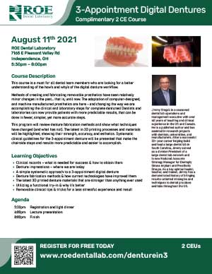 The Three Appointment Digital Denture