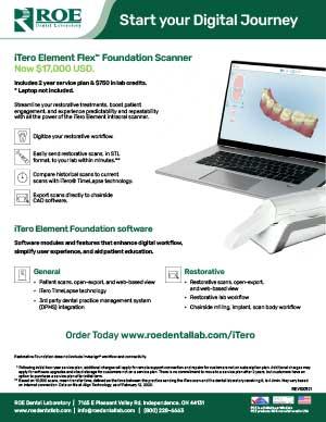 iTero Element Flex Foundation Scanner
